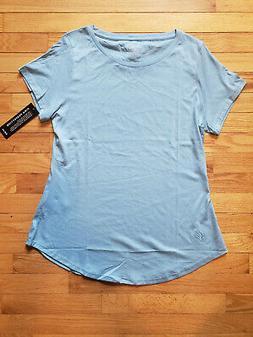 NWT Thelo Short Sleeve T Shirt Women's XL Light Blue Pima Co