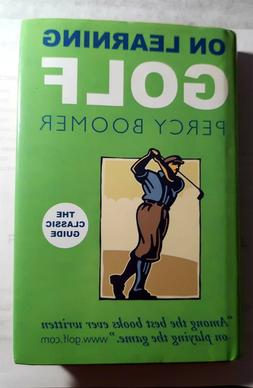 ON LEARNING GOLF BY PERCY BOOMER hardcover in dust jacket