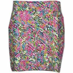 Page & Tuttle Palm Print Skort  Casual Golf  Shorts Pink Wom