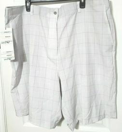 performance plaid active flex waistband golf shorts