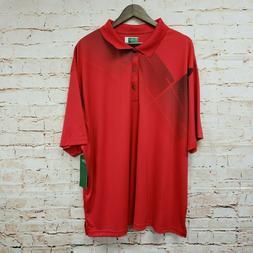 Ben Hogan Performancee Mens Polo Golf Shirt Sz 3XL Red Black