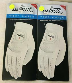 Titleist PERMASOFT Men's Golf Glove Lot Of 2 NEW Left Hand