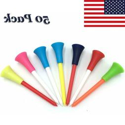 Plastic Golf Rubber Tees Unbreakable 3 1/4 2 3/4 2 1/8 Inch