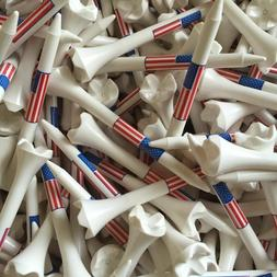 "Pride Evolution USA American Flag 3 1/4"" 3.25 Golf Tees Whit"