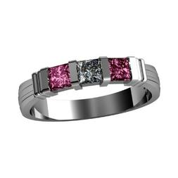 NANA Princess Mothers Ring with 1 to 6 Simulated Birthstones