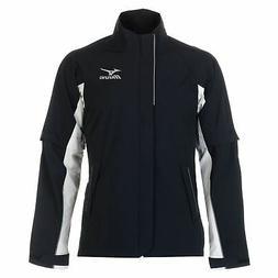 Mizuno Rain Jacket Mens  Black Coat Top Outerwear