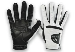 Bionic Men's RelaxGrip Left Hand Golf Glove, White/Black, Me