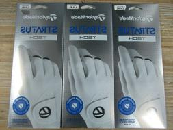 SAVE $$$ 3 PACK OF TAYLORMADE STRATUS TECH GOLF GLOVES YOU C