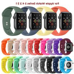 Silicone Strap Sport iWatch Band For Apple Watch Series 5/4/