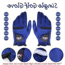 Single Breathable Men Golf Gloves Sports Microfiber Leather