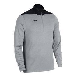 Nike Golf Size  DRI FIT Quarter 1/4 Zip Pullover Grey Black