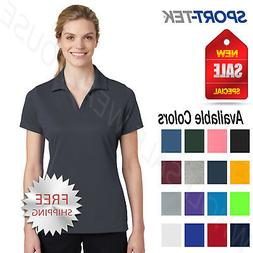 Sport Tek Womens 100% Polyester Dri-Fit Performance Polo  Go