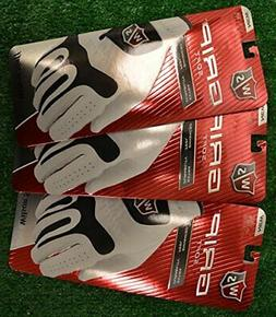 Wilson Staff Grip Soft Golf Gloves, 3-Pack Mens: Fits on the