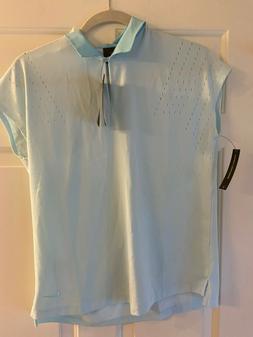 Nike Techknit Shirt Dri Fit NWT Womens Golf Shirt Blue Small