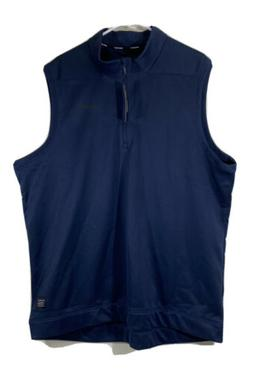 Nike Therma Repel Golf 1/4 Zip Vest Navy Mens 2XL XXL AQ0816