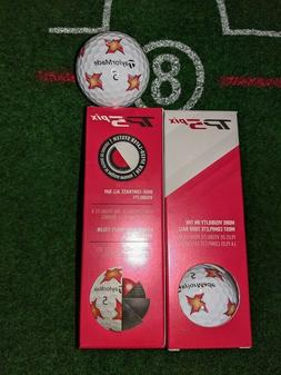 TAYLORMADE TP5 Pix Golf Balls - Red/Yellow - NEW  Sleeve