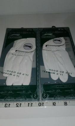 Two  Women's Slazenger money Ladies Golf Gloves LLH- S. Smal