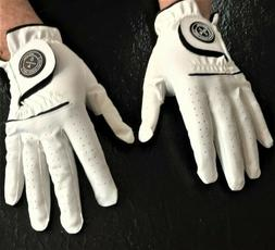 TWO GLOVE GOLFER SETS! RH & LH GLOVES IN WHITE AND 5 SIZES.