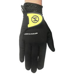 Zero Friction Universal Fit Golf Gloves , Black/Yellow, Fits