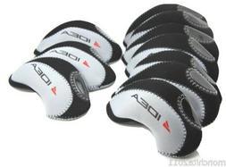 US! ADAMS Golf IDEA Iron Head Covers 10pcs Set  BLACK/GREY C