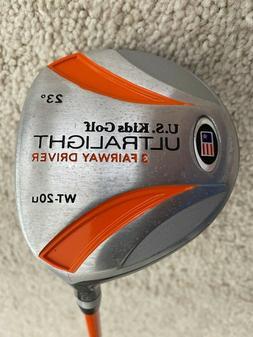"""US Kids Golf UltraLight 51"""" WT-20u 23° Junior 3 Fairway Dri"""