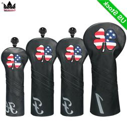 USA CLOVER Wood Headcovers 460cc Club Cover Fairway UT for T