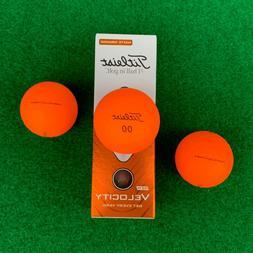 TITLEIST Velocity Golf Balls - Matte ORANGE - NEW Sleeve   2