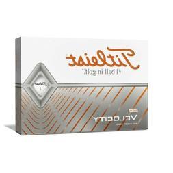Titleist Velocity Golf Balls, White, Standard Play Numbers