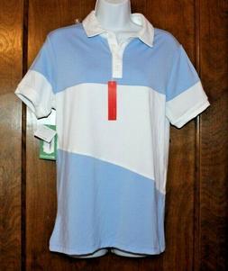 Redvanly women's Fulton short sleeve polo golf shirt Blue wh