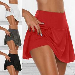 Women Athletic Pleated Tennis Golf Skirt with Shorts Workout